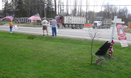 Well protest moves closer to site