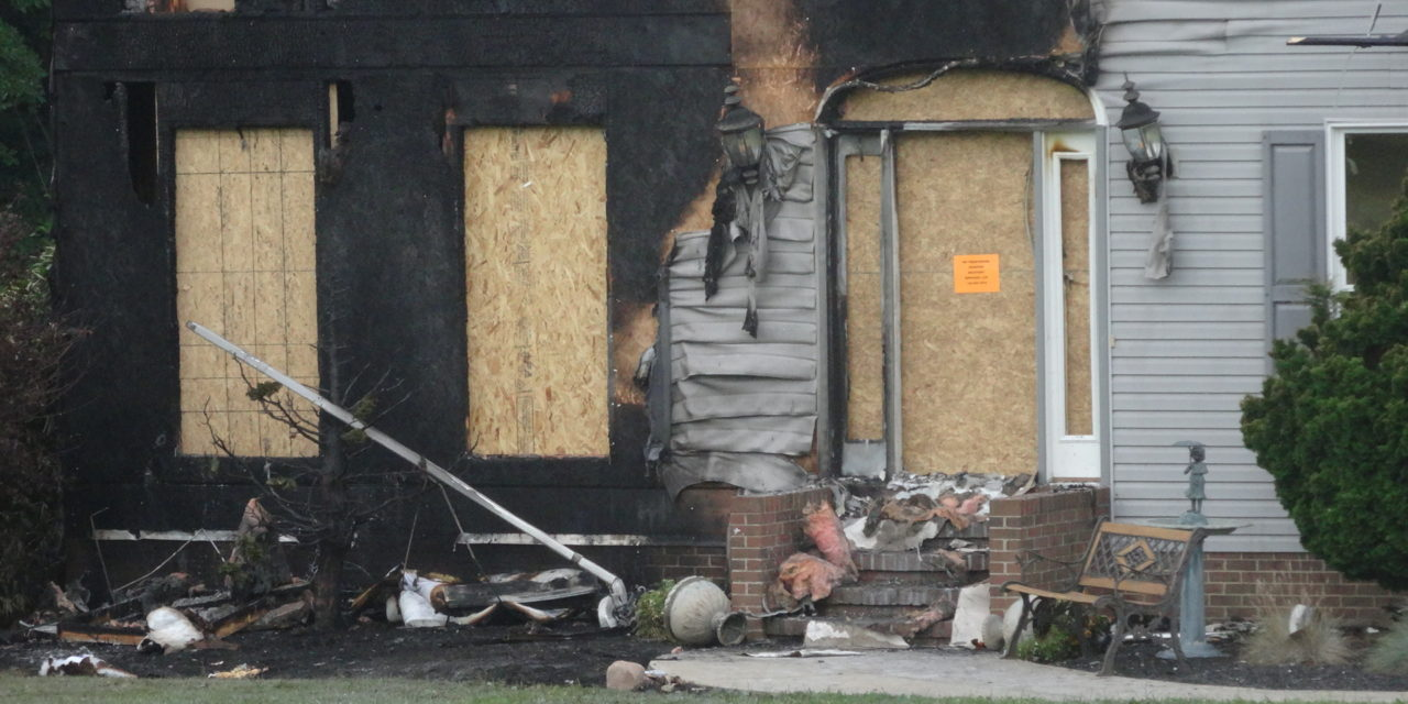Man injured in fire at his home