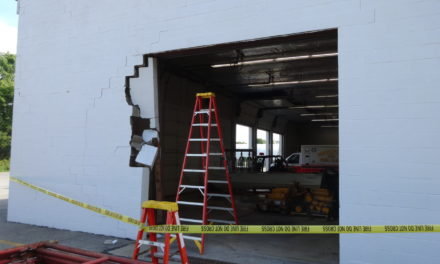 Fire station damaged in truck accident