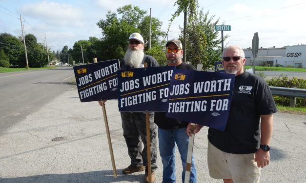 Fellow steelworkers back union walkout