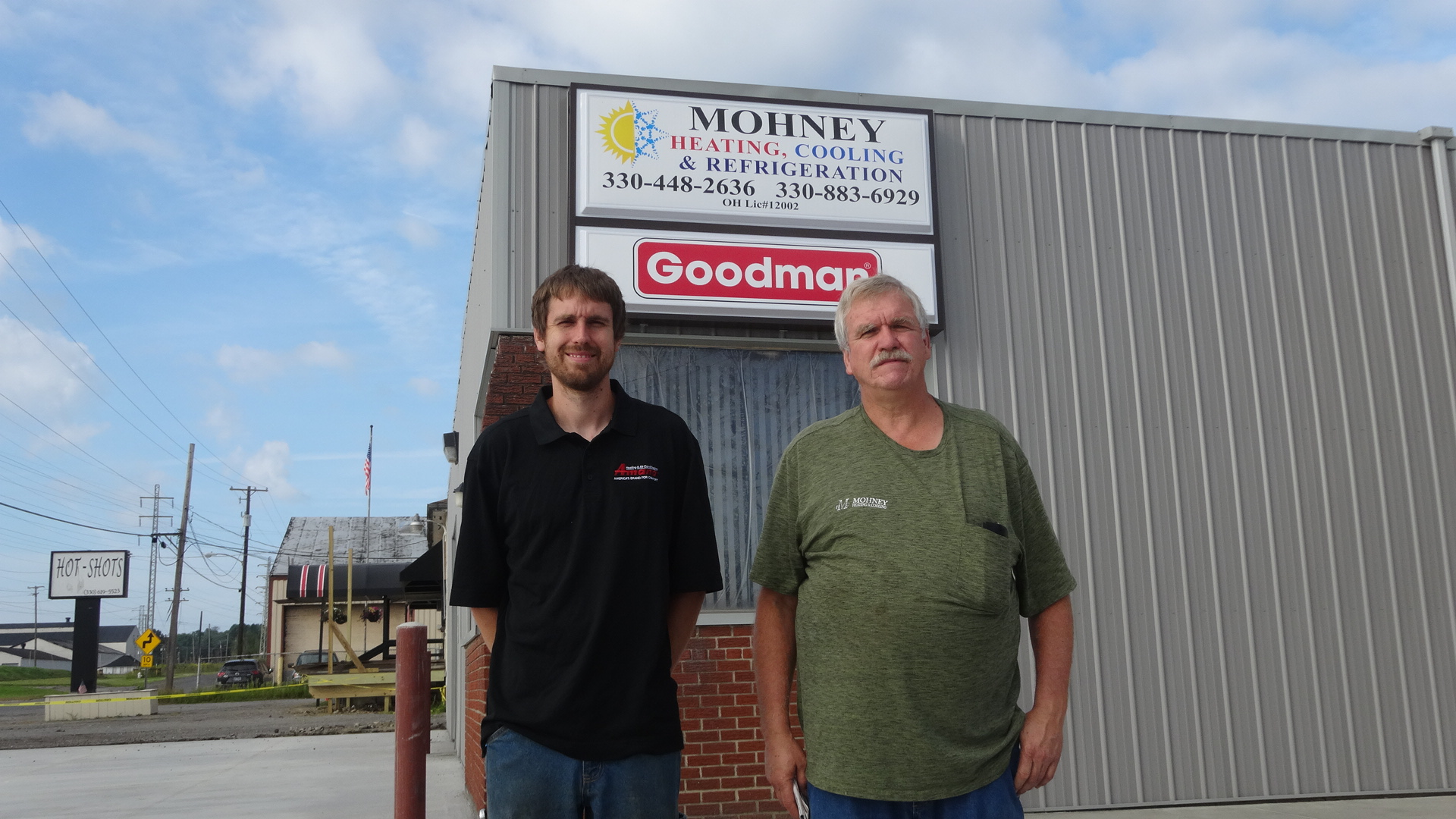 T.J. Mohney, left, and his father, Tim.