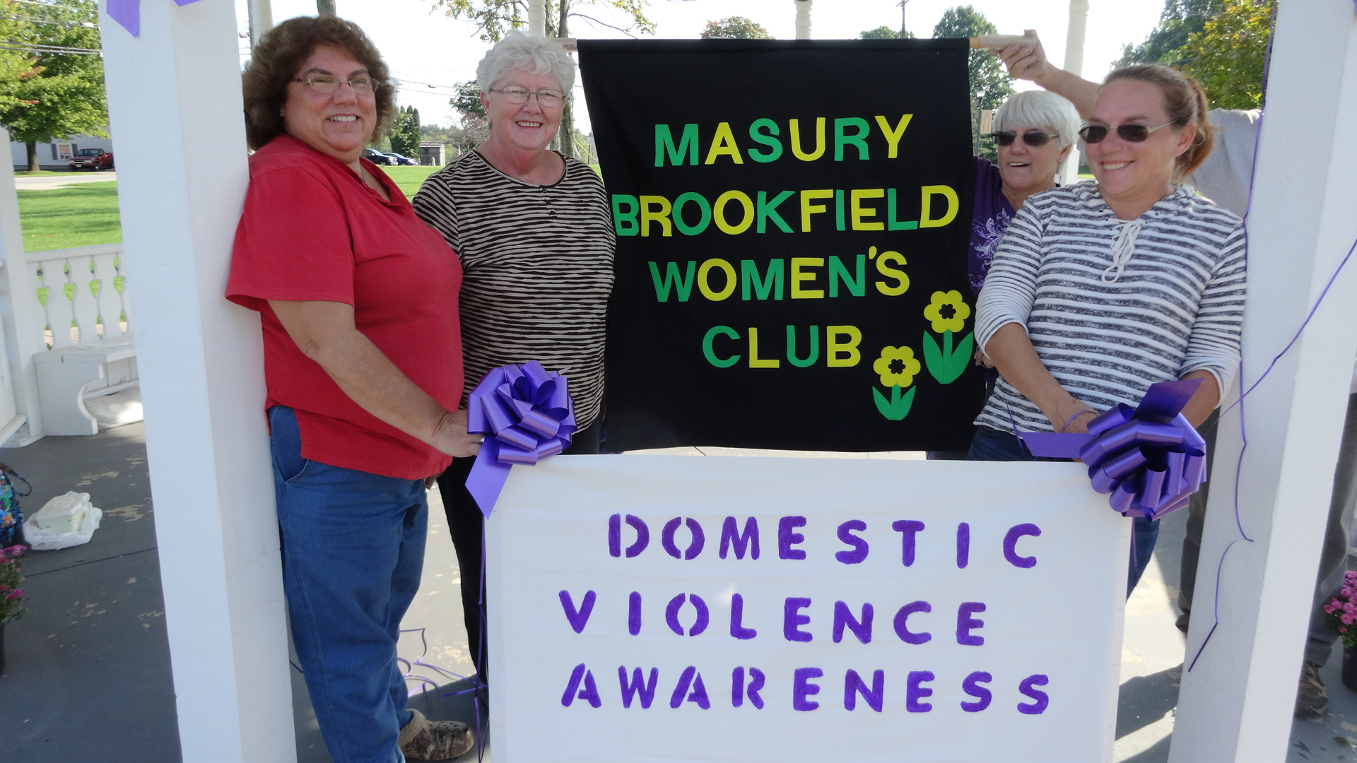 Club members are, from left, Carrie Davis, Sis Hook, Ruth Hawkins and Becky Zyvonoski.