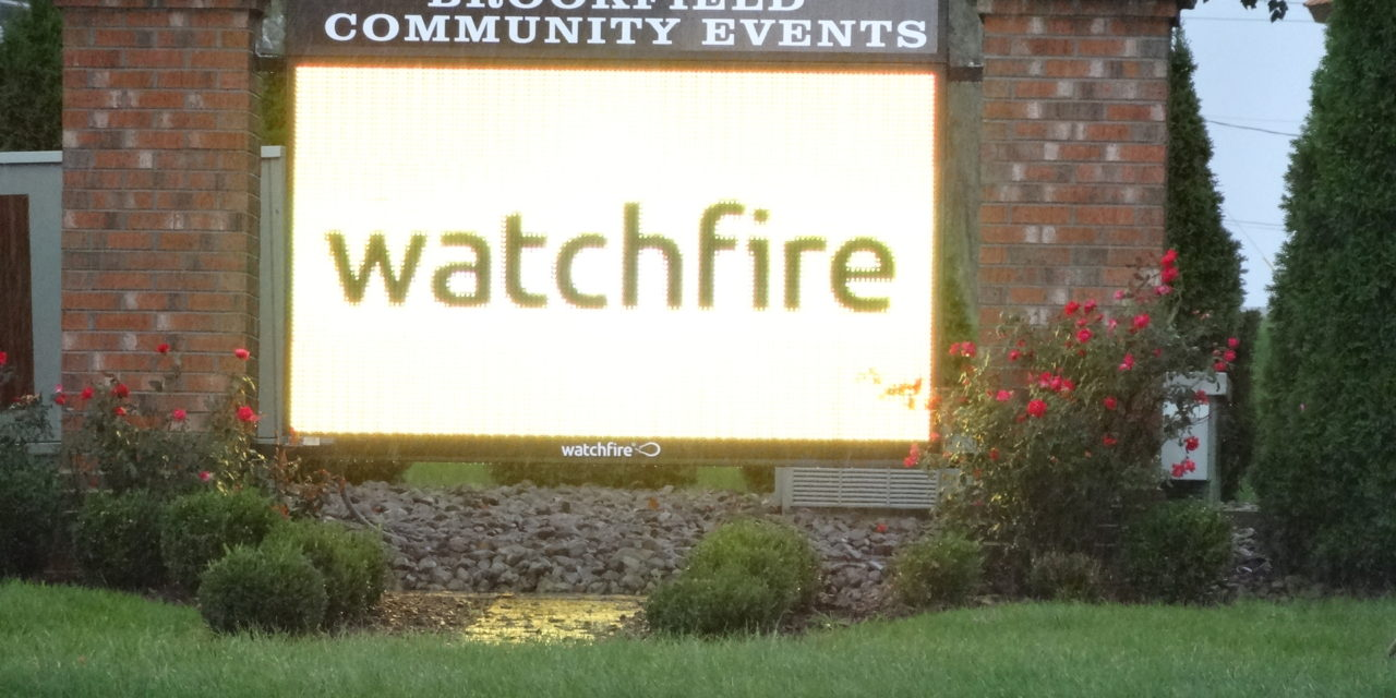 New community events sign installed