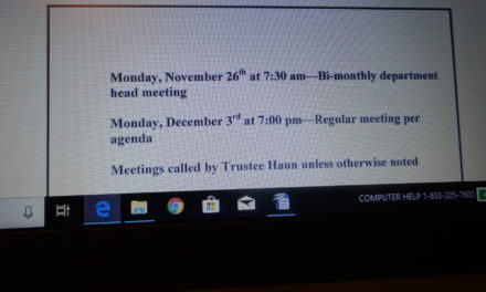 Upcoming meetings in Brookfield Township