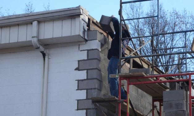 Fire station repair begins