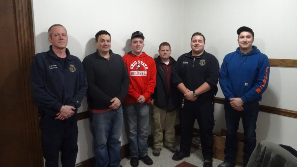Brookfield Township Volunteer Fire Department officers are, from left, President Jim Richmond, Vice President Randy Richman, Secretary Matt Rozhon, Treasurer Aaron Kasiewicz and Trustees Zachary Holmes and Tim Mosora.