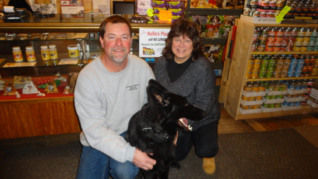 Dan Berecek, Dori Lumpp and their German shepherd, Frankie.