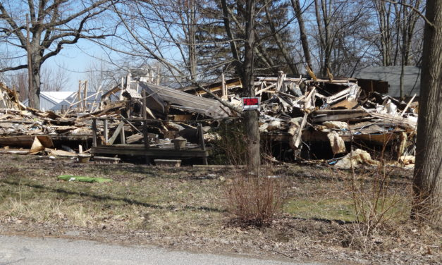 Fire-damaged debris to be cleared