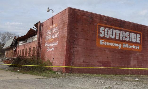 Partial building collapse