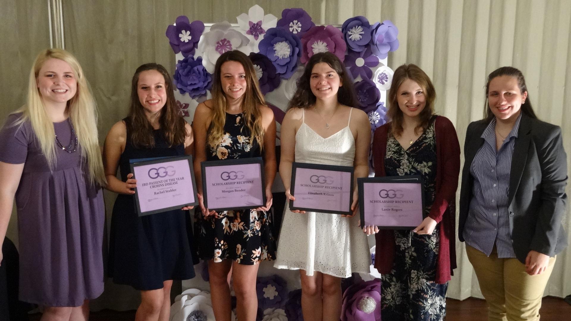 From left, Reganne O'Brien, Rachel Stubler, Morgan Bender, Elizabeth Krinos, Lanie Rogers and Hallie Niemi