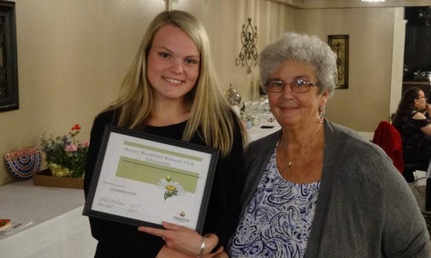 Julianne First wins women's club scholarship