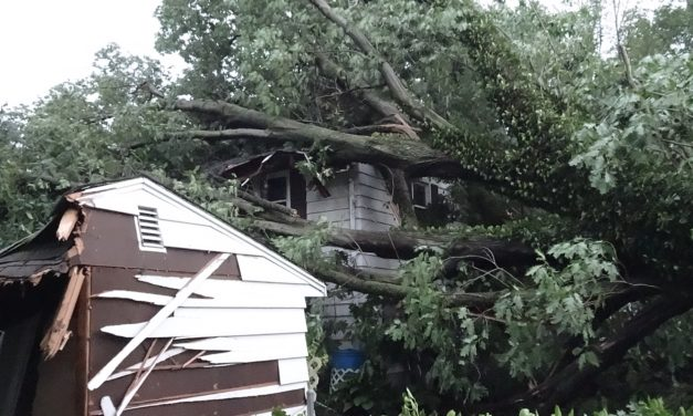 Storm drives family from home
