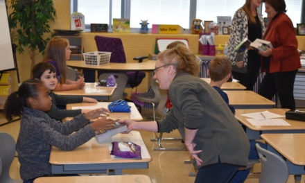 Rotary presents dictionaries to 3rd-graders