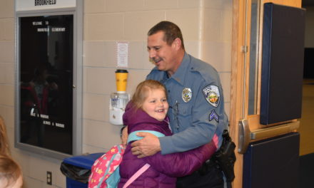 Cpl. Mann's first day as SRO at Brookfield schools