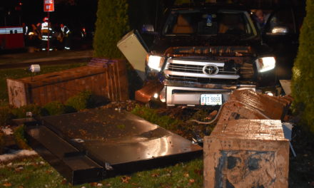 Driver in sign crash says steering locked up