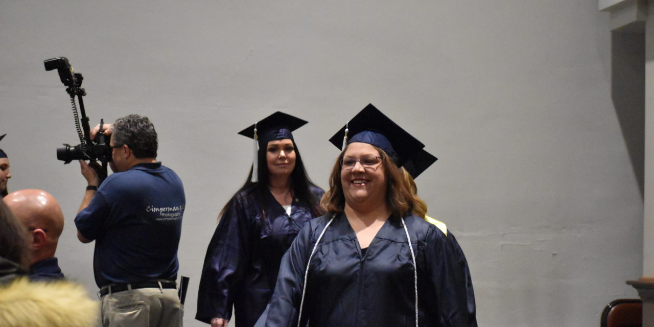 Student speaker outlines 17-year path to degree