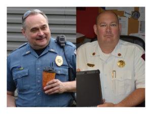 Police Chief Dan Faustino (left) and Fire Chief Dave Masirovits
