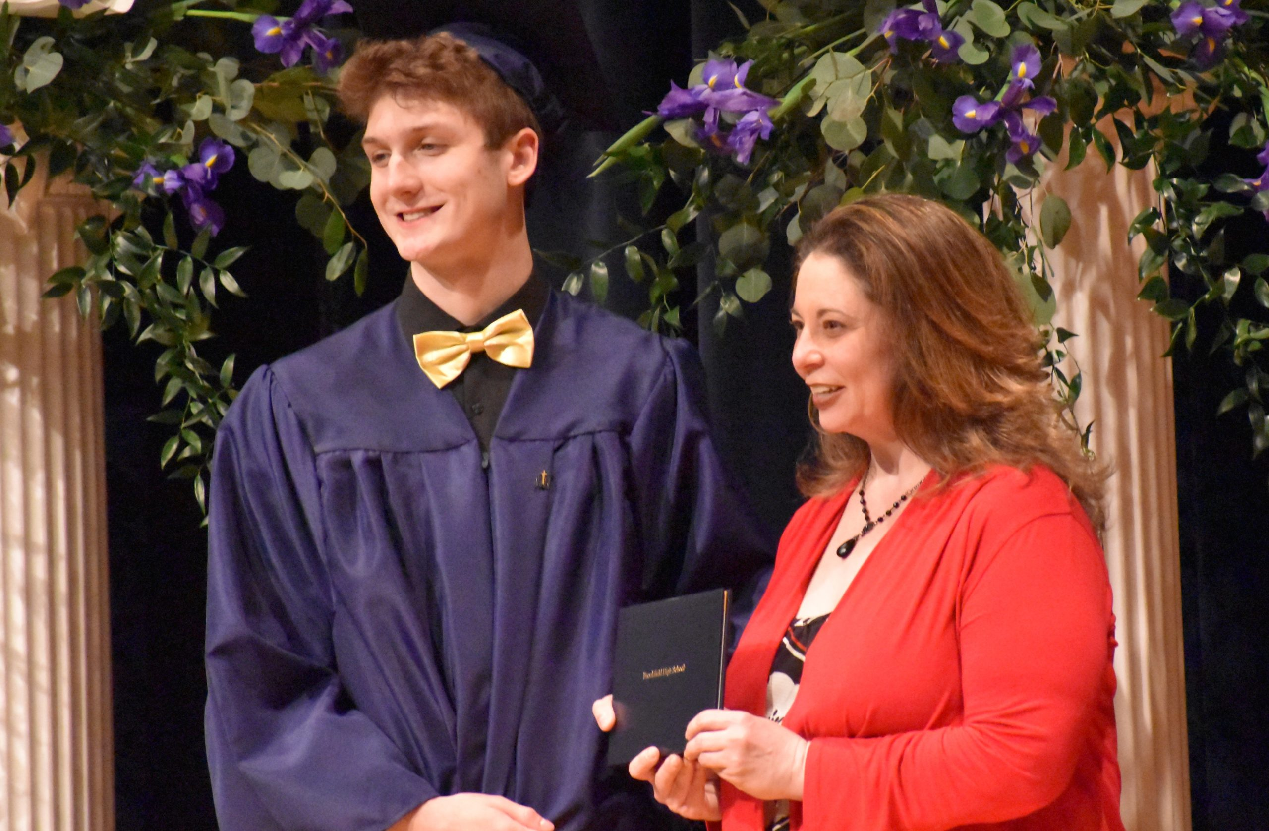 Ryan Logan is shown with Brookfield Board of Education member Melissa Sydlowski.