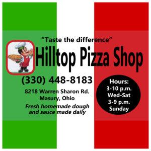 Hilltop Pizza Shop, Masury, OH