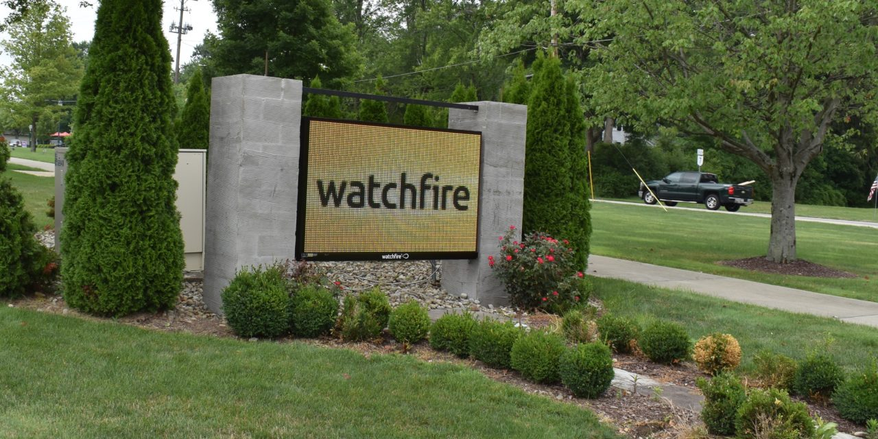 New township electronic sign installed