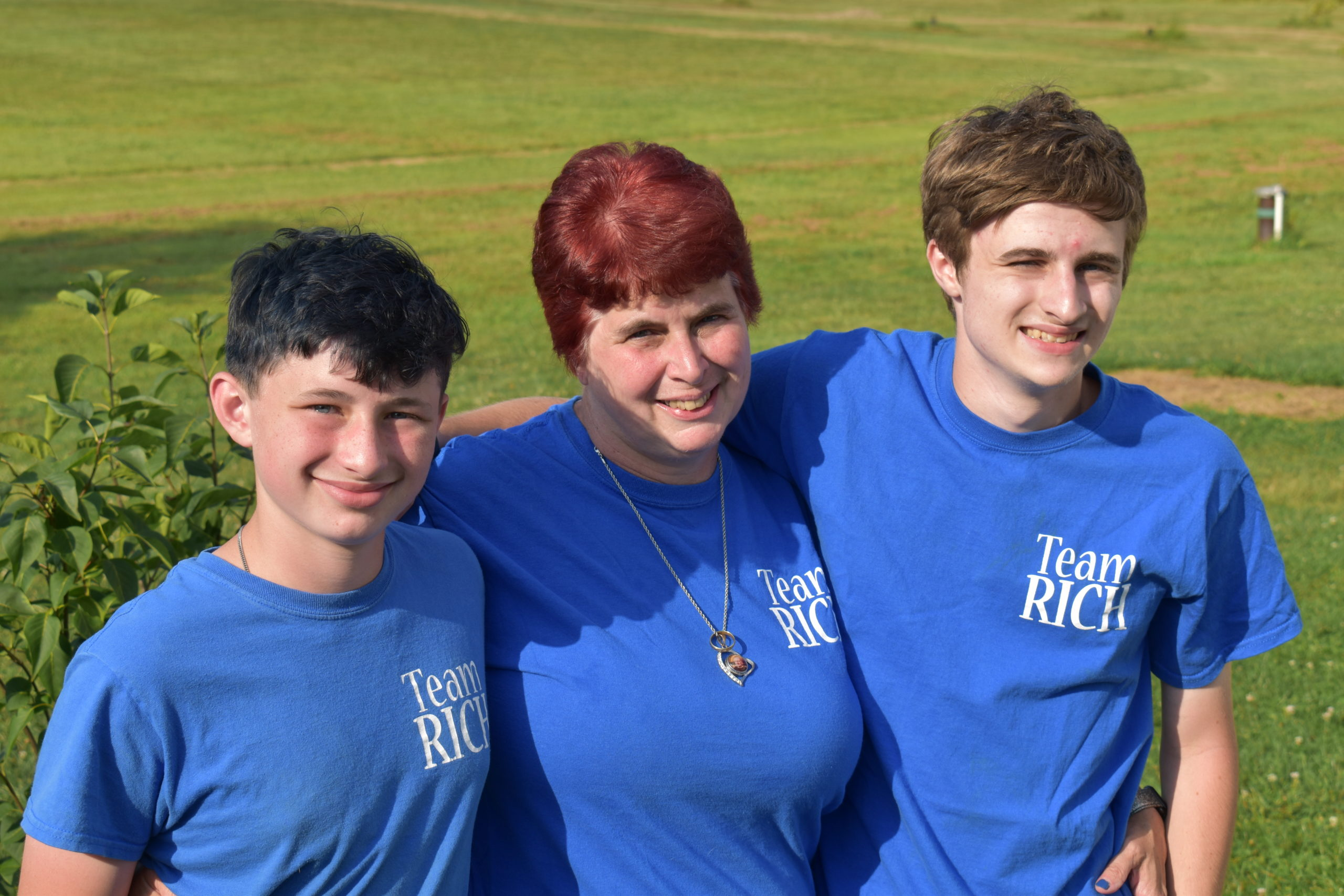 The members of Team Rich are, from left, Ryan, Jeanne and Ricky Atkinson. They have formed nonprofit corporation, Team Rich, in honor of husband and father Rich Atkinson.