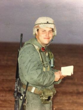 Tim Sydlowski is shown during his deployment to the Middle East for Operation Desert Storm. Contributed photo.