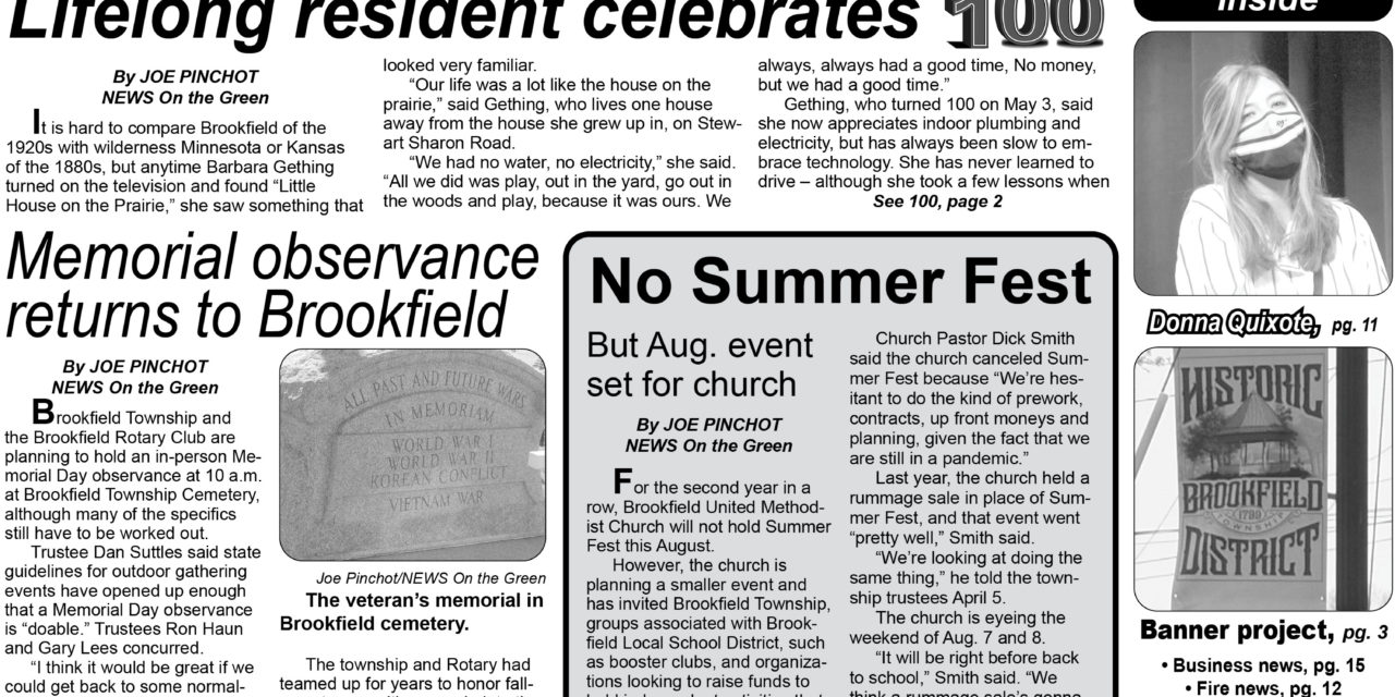 Get the May 2021 print edition of NEWS On the Green