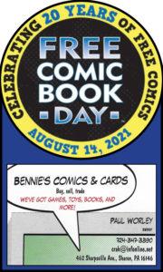 Bennie's Comics & Cards: Free Comic Book Day Sharon PA