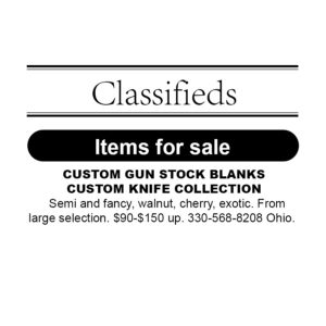 Classified Ad: ITEMS FOR SALE