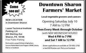 Downtown Sharon Farmers' Market Sharon PA