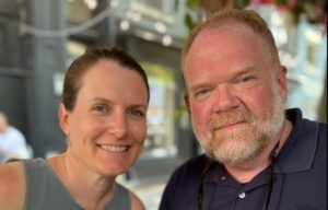 Brian Noble Jones and his wife, Erin Ciarimboli, are shown during a recent trip to New York City. Contributed photo.