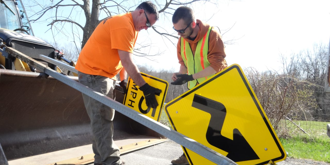 Signs going up on country roads
