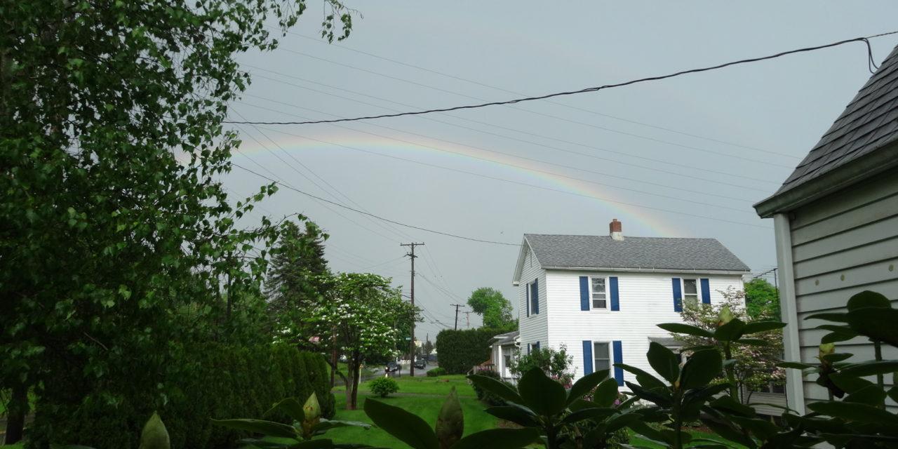 Rainbow crowns day of weird weather