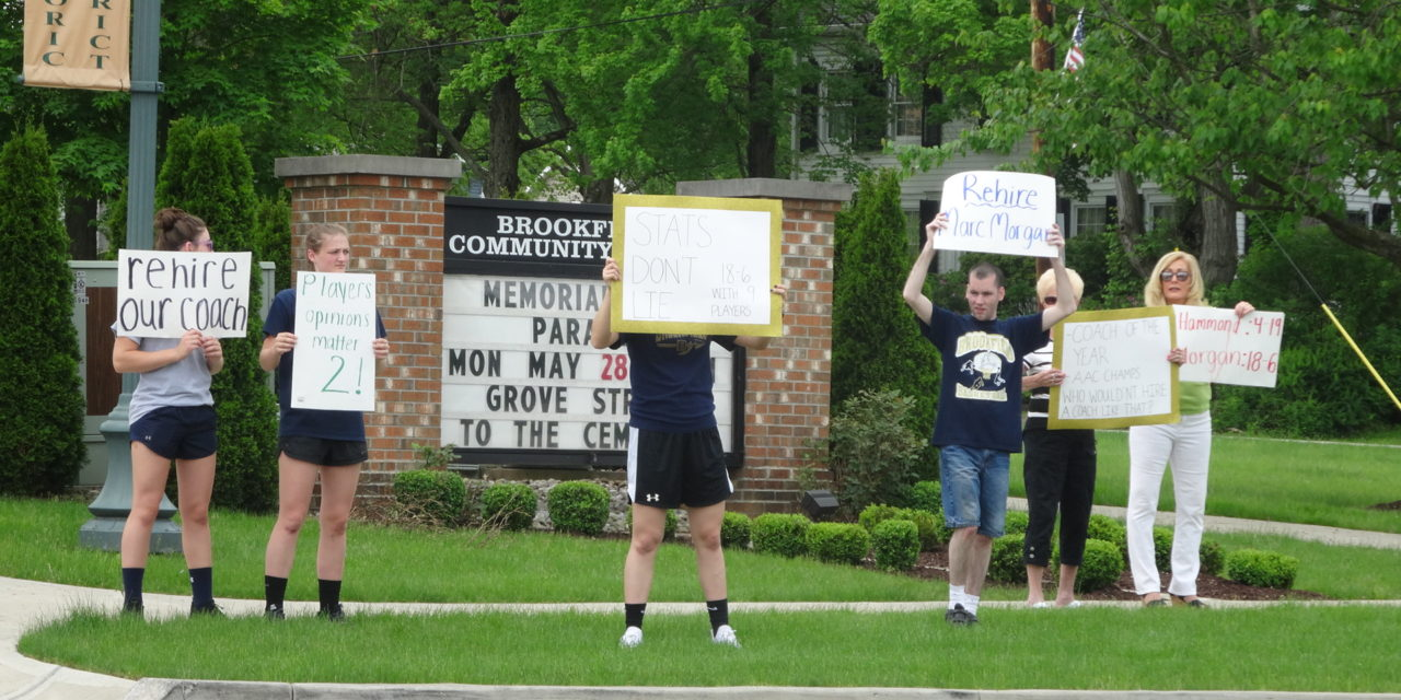 Players protest action on coach