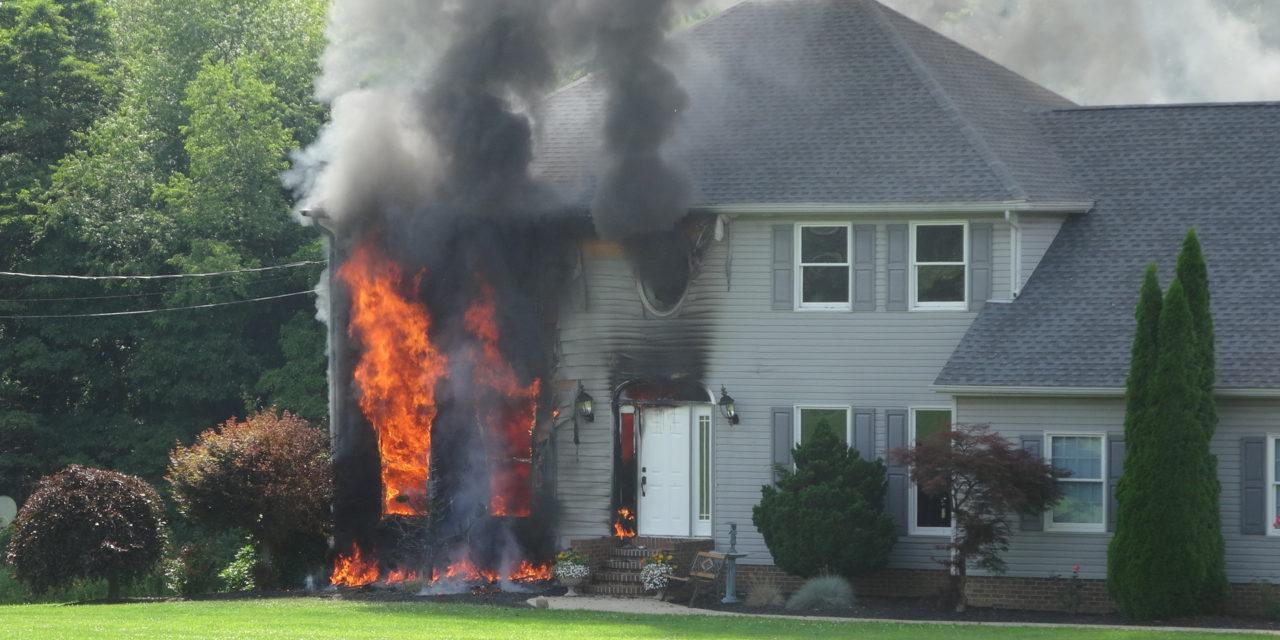 House fire on Sharon Hogue Road
