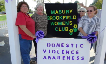 Club decorates for Domestic Violence Month