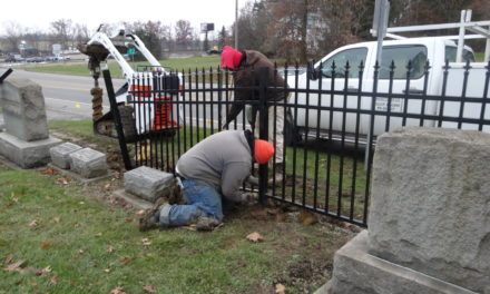 Cemetery fence project underway