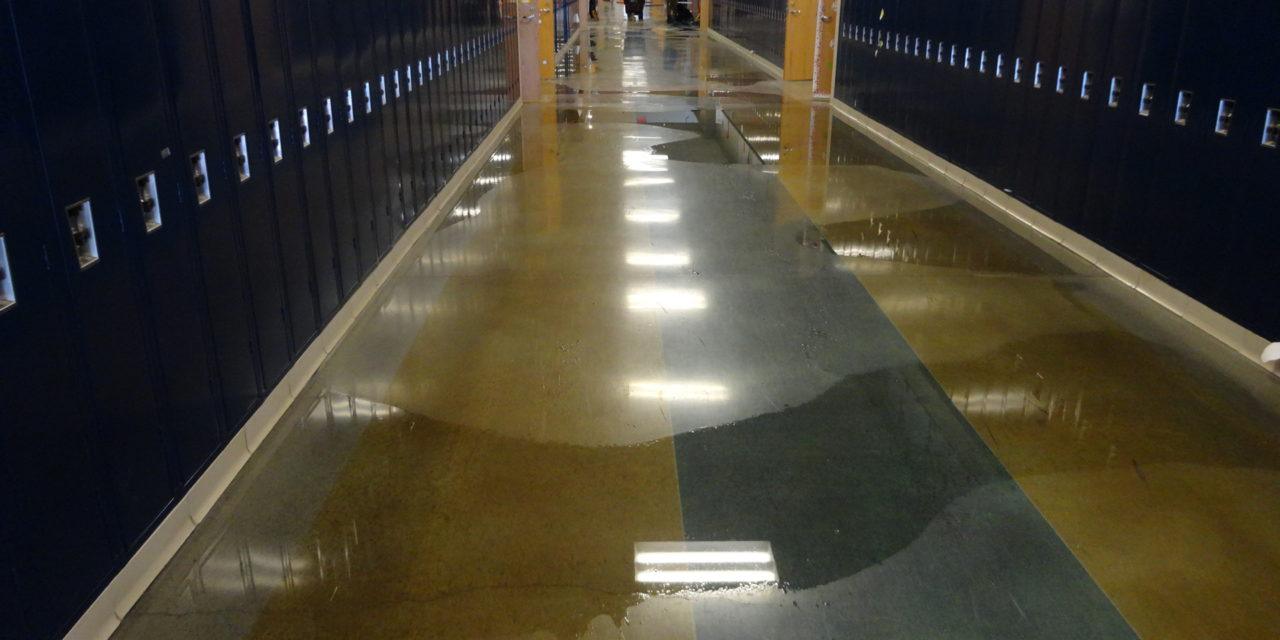 Brookfield Middle School flooding