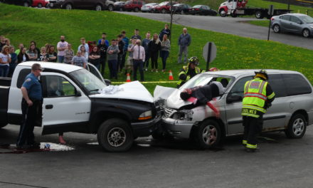 Mock crash for prom season