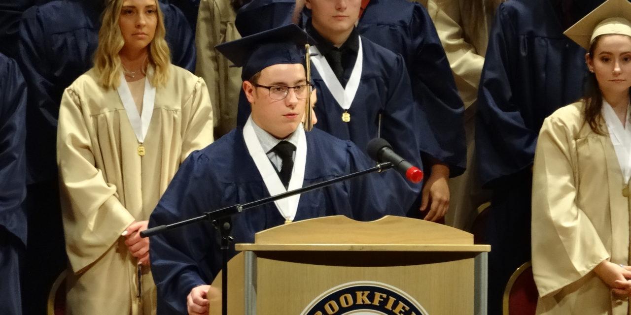 Class President Jordan Tingler's address