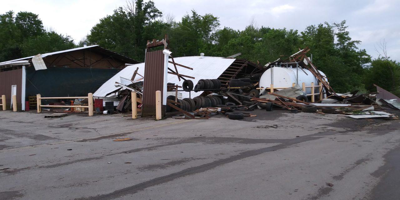 Weather service surveys Trumbull storm damage