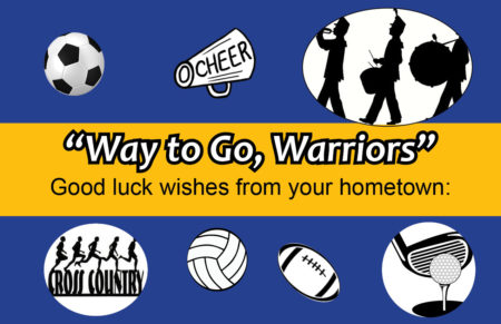 Send our Warriors good luck wishes!