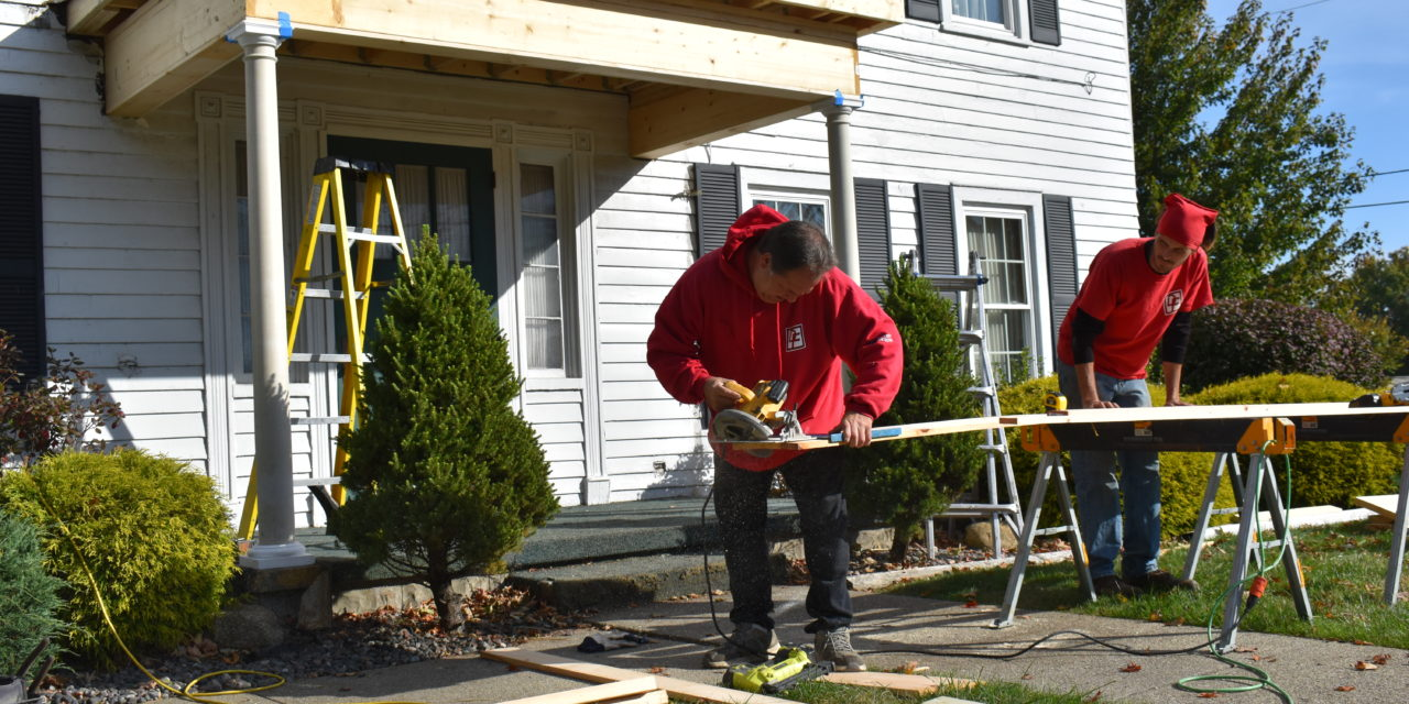 Madasz Chapel porch repair