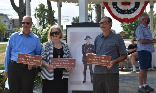 Road dedication honors fallen police patrolman