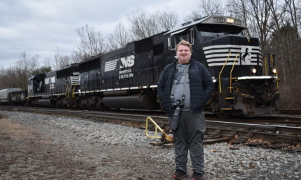 Young photographer pursues train of thought
