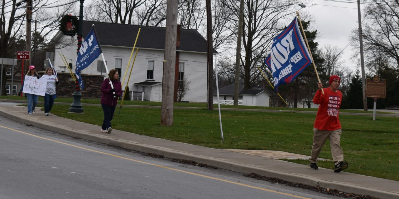 Protesters highlight political issues