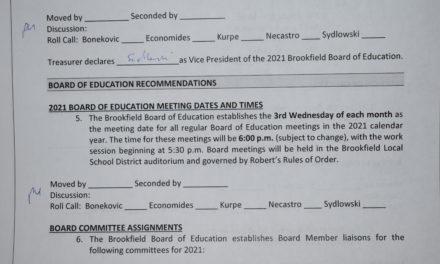 Brookfield Board of Education Meetings