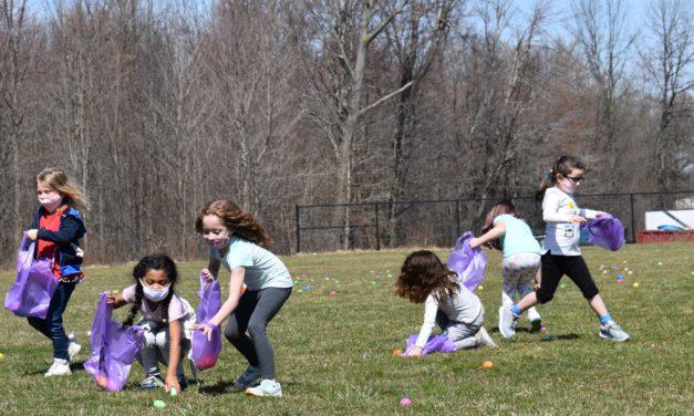 BPA Easter egg hunt at Brookfield Elementary