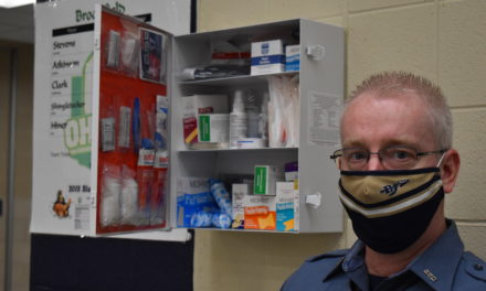 School resource officer donates medical boxes